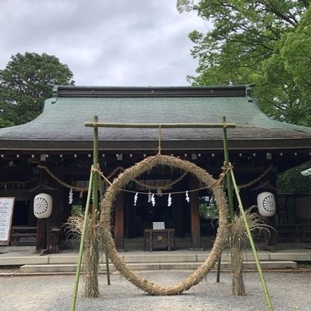 2020年6月 大阪 離宮の水 水無瀬神宮 茅の輪 茅の輪くぐり ときめきな日々.JPG