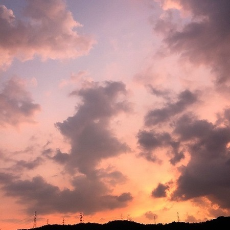 2020年8月 夕焼雲 ときめきな日々.JPG