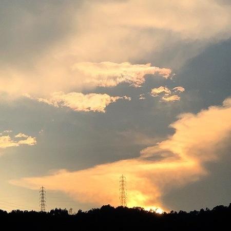 2020年8月 夕焼雲 ときめきな日々 (2).JPG