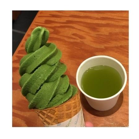 京都 宇治 丸久小山園本社 抹茶アイス.JPG