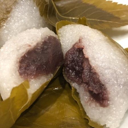 京都 嵯峨鳥居本 鮎の宿つたや 桜餅 (4).JPG