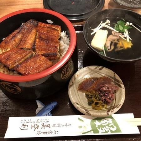 京都 東寺 うなぎ料理 美登利 おすすめセット.JPG