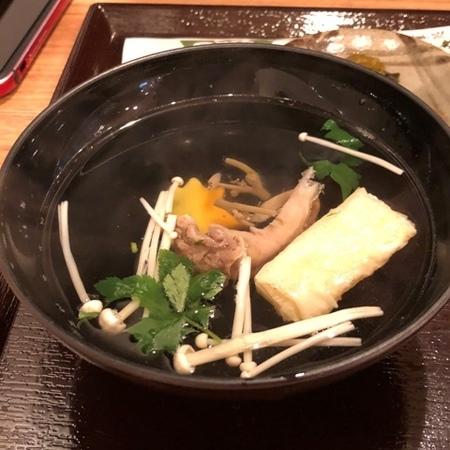 京都 東寺 うなぎ料理 美登利 肝吸い.JPG