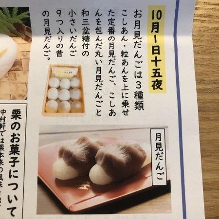 京都 桂 和菓子 中村軒 月見だんご.JPG